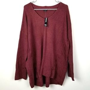 New Directions Curvy 3X Plus Size Sweater Lounge
